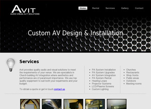 Static webpage design